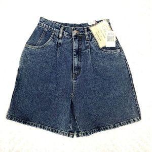 Vintage Denim Jean Mom Short Women Stone Wash NEW